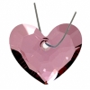 Truly In Love Heart 28mm Antique Pink Crystal